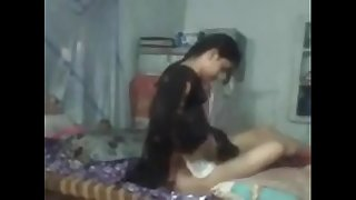 Village girl pounding at home