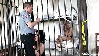 Prison whores Dolly Diore & Olivia Jager string up Anal Domination