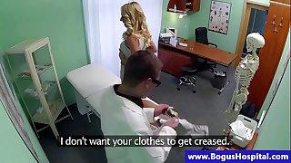 Pretend doctor seducing patient as he start fingering her