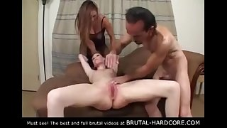 Must see! Brutal gang sex