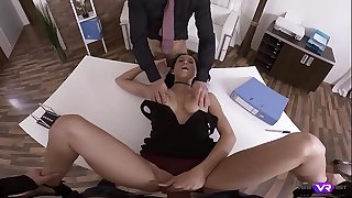 TmwVRnet.com - Nicole Love - Group Sex In The Loan Department