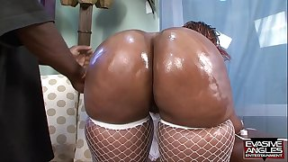 EVASIVE ANGLES Horny Dark-hued Mothers 13 with Ms. Cleo