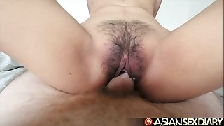 Asian Sex Diary - Young Filipina cutie gets her hairy pussy fucked