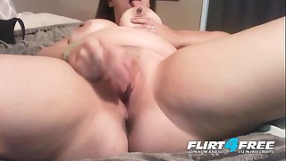 Naughty Nicky - Flirt4Free - Lush Babe w Fat Natural Titties Creamy Beaver Climax