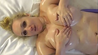 Oiled Boobs and Lesbian Dirty Talk