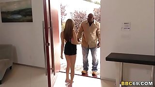 Jennifer Lawrence Lookalike Carolina Sweets Fucks Big Black Cock