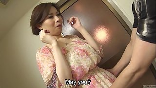 Uncensored undoubted Japanese Yuko Iijima stripped Subtitled
