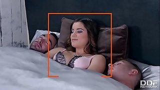 Greedy tiny Whore - Evelina Darling Gets Anal MMF Threesome
