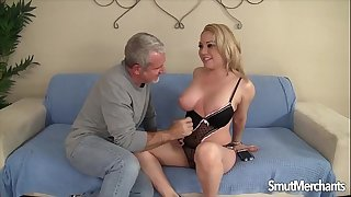Nasty ash-blonde girl Jasmine Gin gets fucked firm